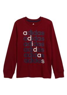 adidas Linear Echo Logo T-Shirt (Little Boys)