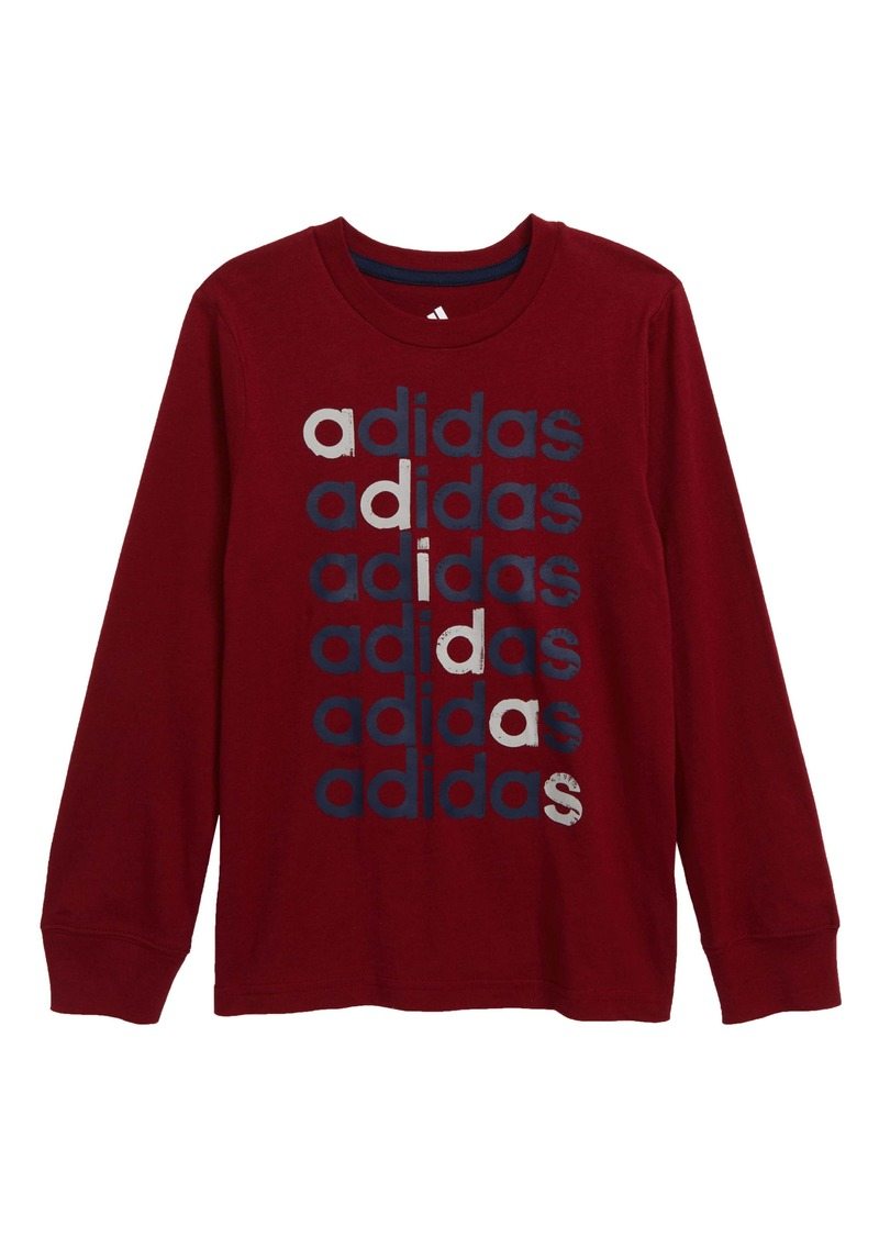 adidas Linear Echo Logo T-Shirt (Little Boys)