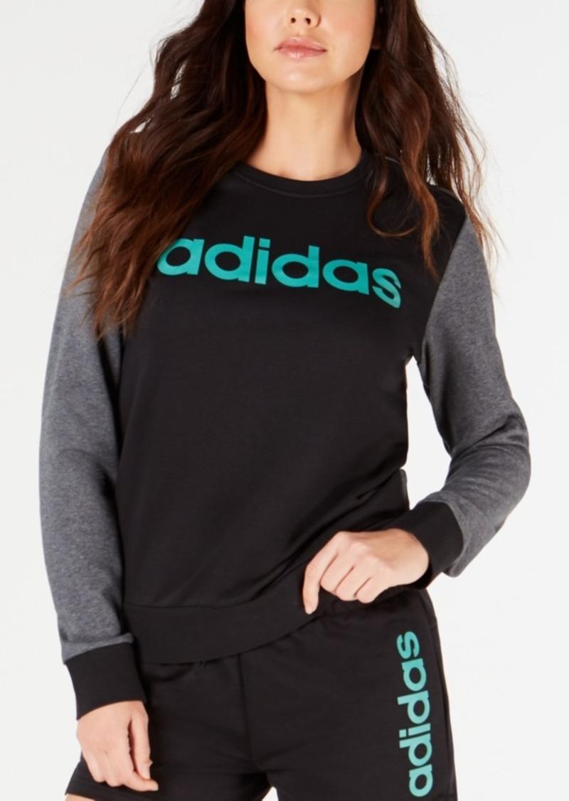 adidas Linear Logo Colorblocked Sweatshirt