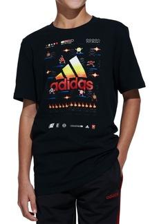 adidas Little Boys 8-Bit Sports Game Cotton T-Shirt