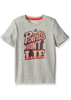 adidas Little Boys' Active Tee Shirt Gray
