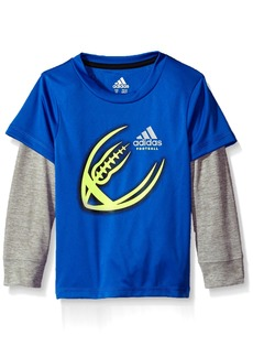 adidas Little Boys' Active Two-Fer Tee Shirt