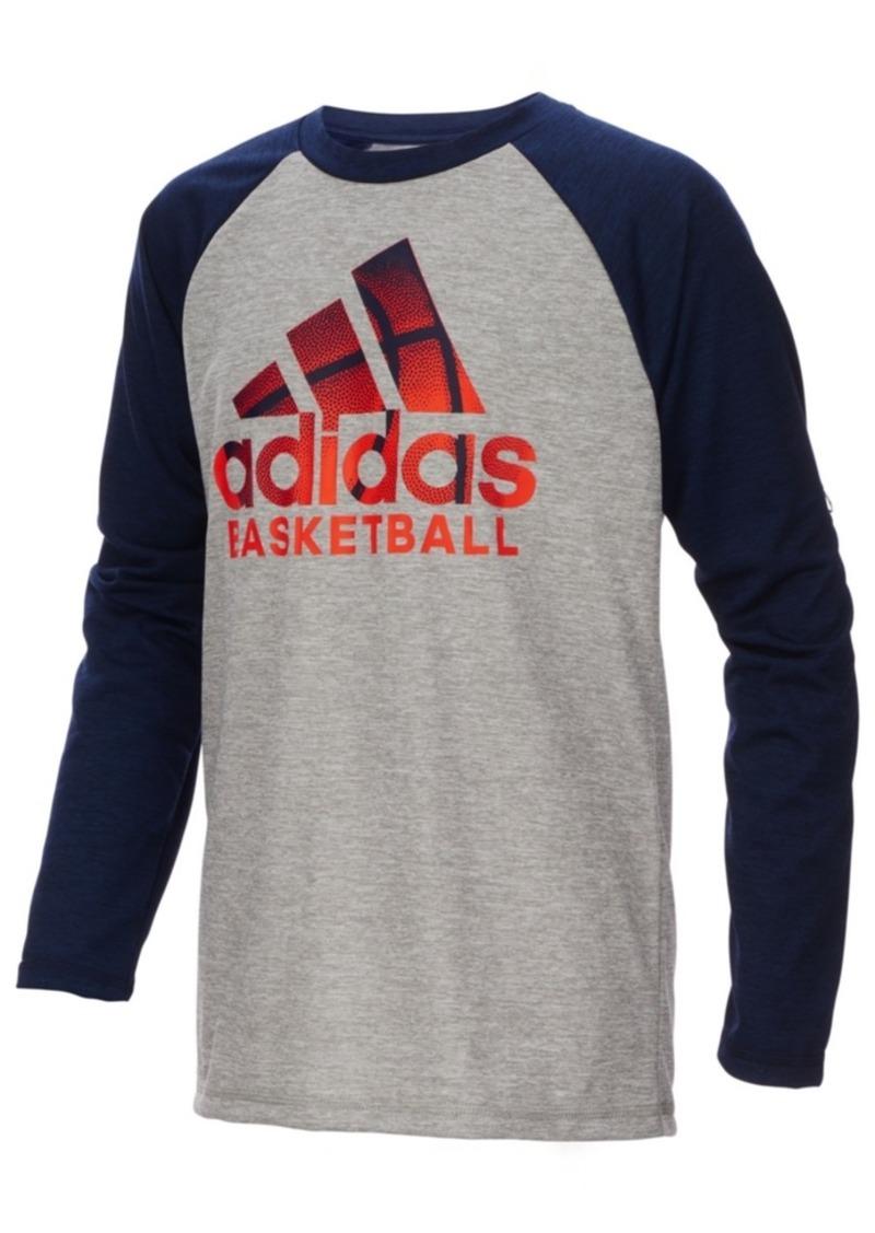 adidas Little Boys Basketball-Print T-Shirt