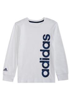 Adidas Little Boy's Camouflage Linear Fill Logo Cotton Tee