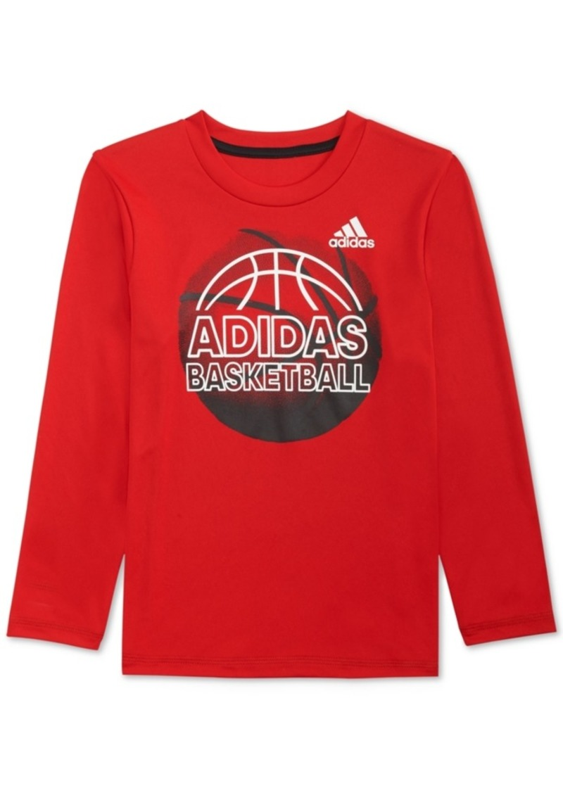 adidas Little Boys Climalite Graphic-Print Shirt
