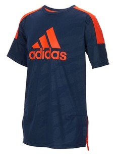 Adidas Little Boy's Climalite Moto Camouflage Embossed Tee