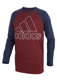 adidas Little Boys Climalite Raglan Logo-Graphic Shirt