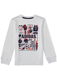 adidas Little Boys Collage-Print Cotton T-Shirt
