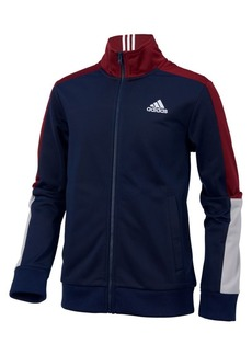 Adidas Little Boy's Colorblock-Sleeve Tricot Jacket