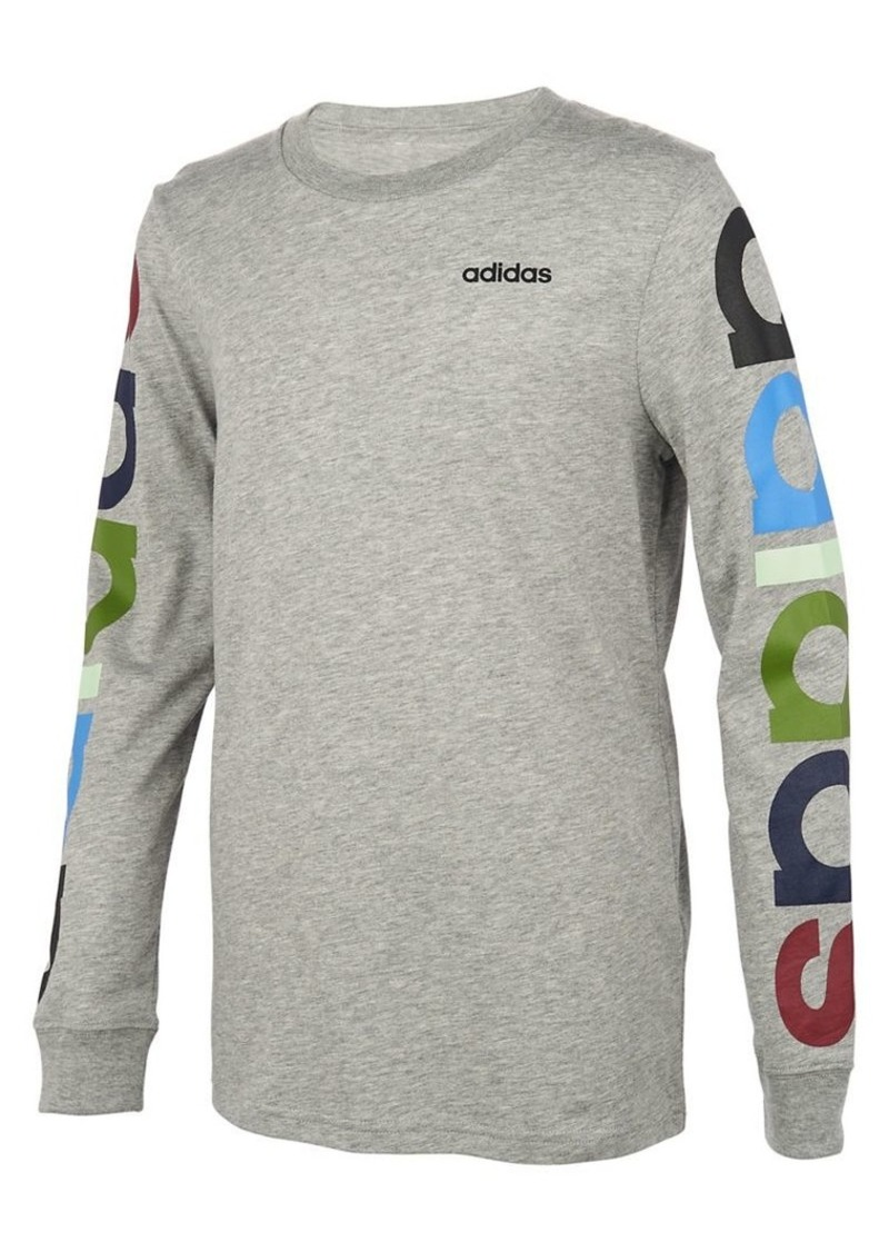 Adidas Little Boy's Cotton-blend Linear Logo Tee