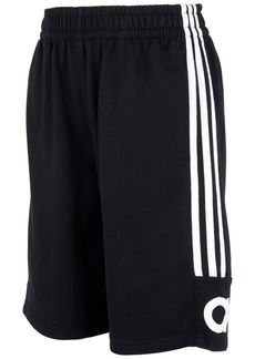 adidas Little Boys Cotton French Terry 3-Stripe Shorts