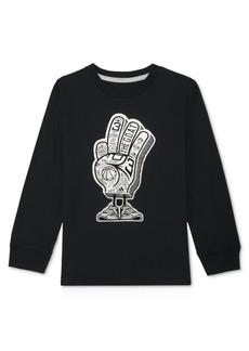 adidas Little Boys Foam Finger-Print Cotton T-Shirt