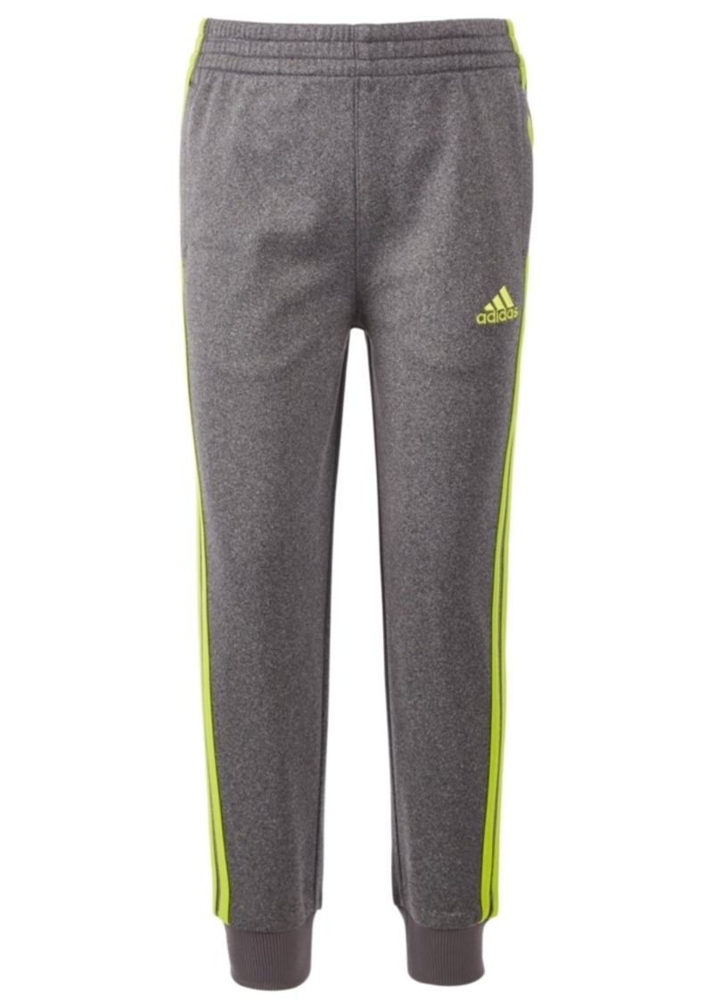 adidas Little Boys Heathered Tricot Jogger Pants