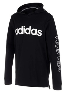 Adidas Little Boy's Hooded Linear Tee