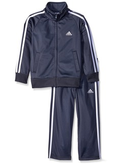 adidas Little Boys' Iconic Tricot Jacket and Pant Set Grey