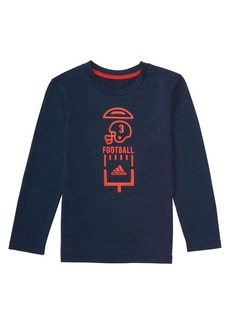 Adidas Little Boy's Long-Sleeve Climalite Vertical Collage Graphic Tee