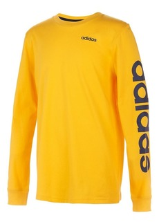 Adidas Little Boy's Long-Sleeve Linear Cotton Tee