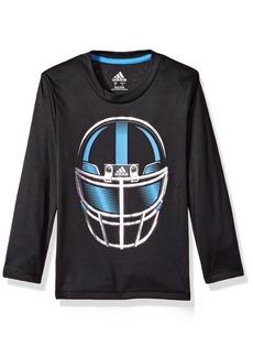 adidas Boys' Little LS Defense Helmet TEE
