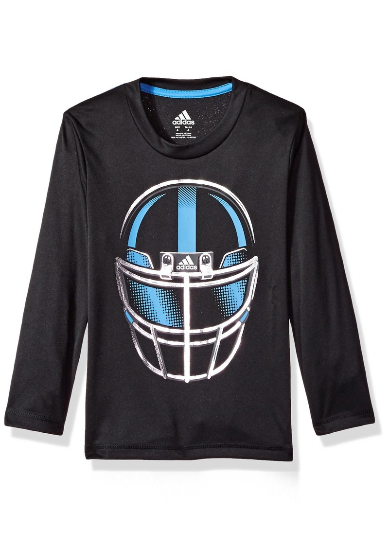 adidas Boys' Little LS Defense Helmet TEE