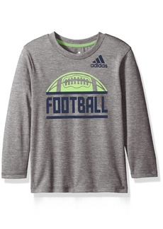 adidas Little Boys' LS Sport Split Tee Dark Grey