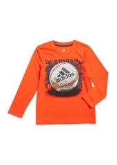 Adidas Little Boy's Photo Sport Football Screened Long-Sleeve Tee