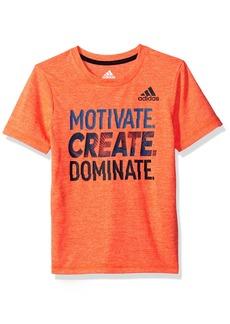 Adidas Boys' Little Short Sleeve Moisture-Wicking Graphic T-Shirt