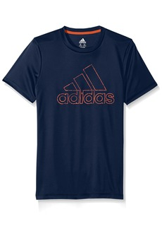 adidas Little Boys' Short Sleeve Logo Tee Shirt