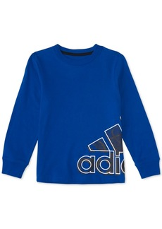 adidas Little Boys Sport Wrap Badge Cotton T-Shirt