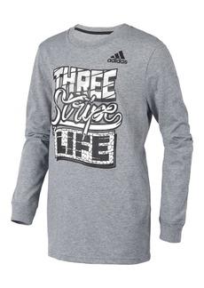 Adidas Little Boy's Three Stripe Story Tee