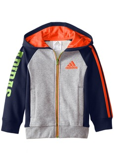 adidas Little Boys' Toddler Warm up Fleece Hooded Jacket