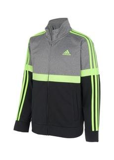 adidas Little Boys Zip Front Heathered Split Tricot Jacket