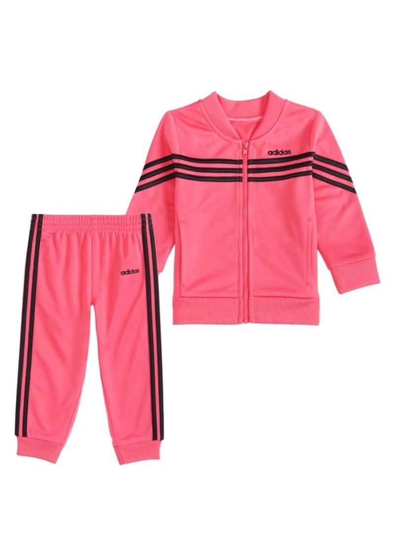 Adidas Little Girl's 2-Piece Linear Tricot Jacket Set