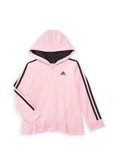 Adidas Little Girl's 2-Piece Velour Jacket & Pants Set