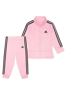Adidas Little Girl's 2-Piece Zip-Front Pleated Tricot Jacket & Joggers Set