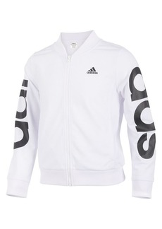 Adidas Little Girl's and Girl's Cropped Adi Bomber Jacket