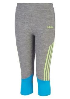 Adidas Little Girl's Climalite Striped Capri Tights