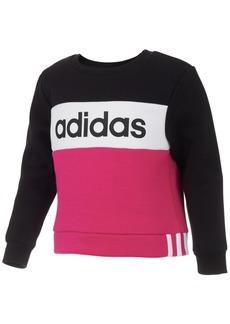 adidas Little Girls Colorblocked Fleece Sweatshirt