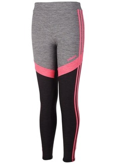 adidas Little Girls Colorblocked Melange Leggings