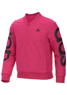 adidas Little Girls Cropped Adi Bomber Jacket