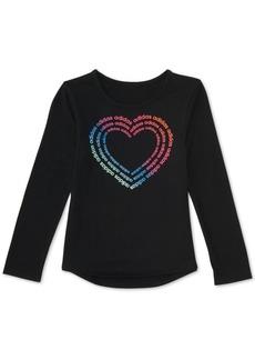 adidas Little Girls Heart-Print T-Shirt