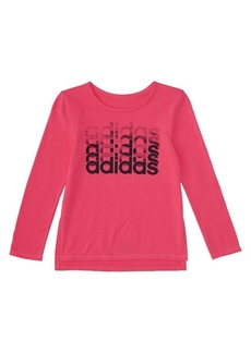 Adidas Little Girl's Linear Thank You Tee