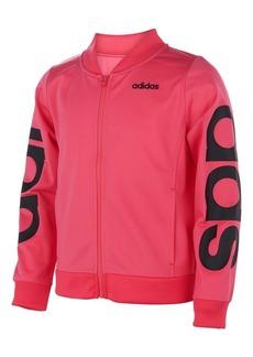 adidas Little Girls Linear Tricot Jacket