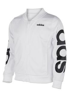 Adidas Little Girl's Logo Cropped Bomber Jacket