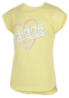 adidas Toddler Girls Short Sleeve Slit Tee