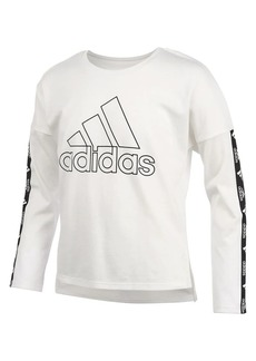 Adidas Little Girl's Long-Sleeve Cropped Tee