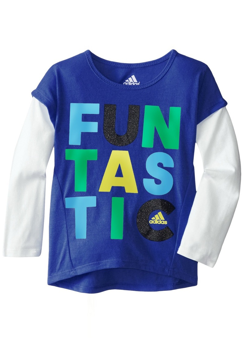 Adidas Little Girls' Long Sleeve Graphic Tee Shirt