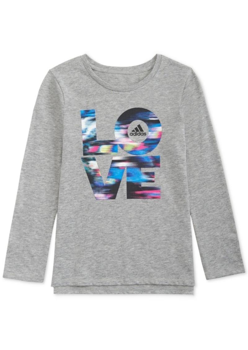 adidas Toddler Girls Long-Sleeve Love T-Shirt