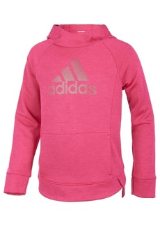 adidas Little Girls Push It Logo-Print Hoodie