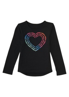 Adidas Little Girl's Rainbow Gradient Tee