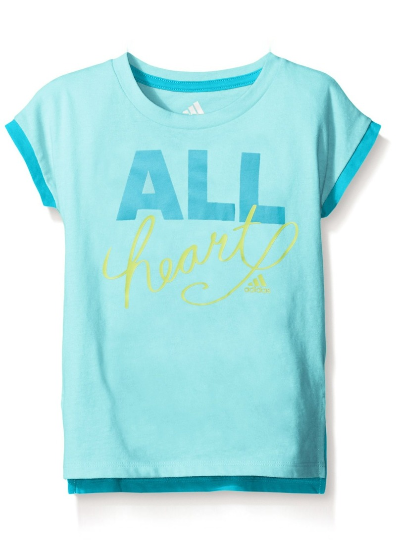 adidas Little Girls' Short Sleeve Graphic Tee Shirts